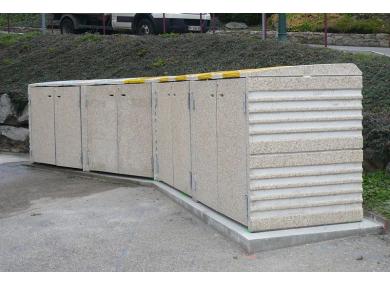 Installation d'abris conteneurs