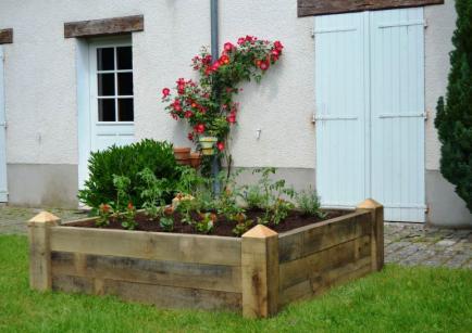 Jardinières modulaires en bois