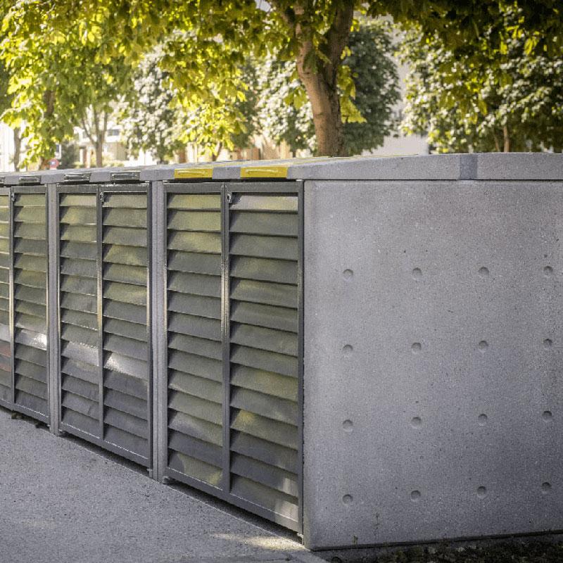 Un abri conteneur en béton