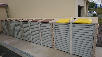 Abris conteneurs béton gamme media