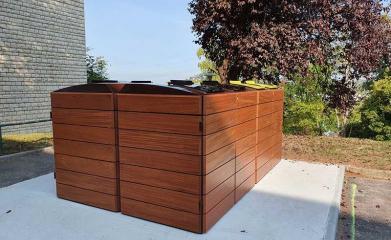 Abris conteneurs en bois image 5
