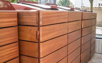 Abris conteneurs en bois image 3