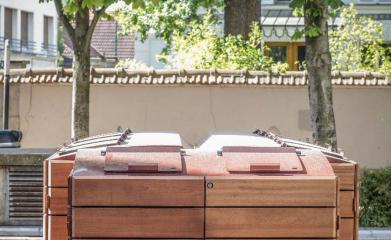 Abris conteneurs en bois image 4