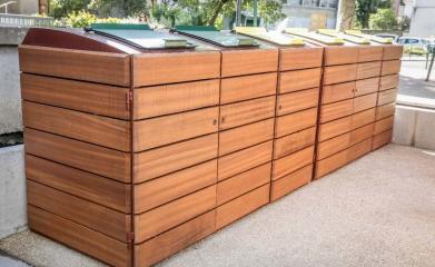 Abris conteneurs en bois image 6